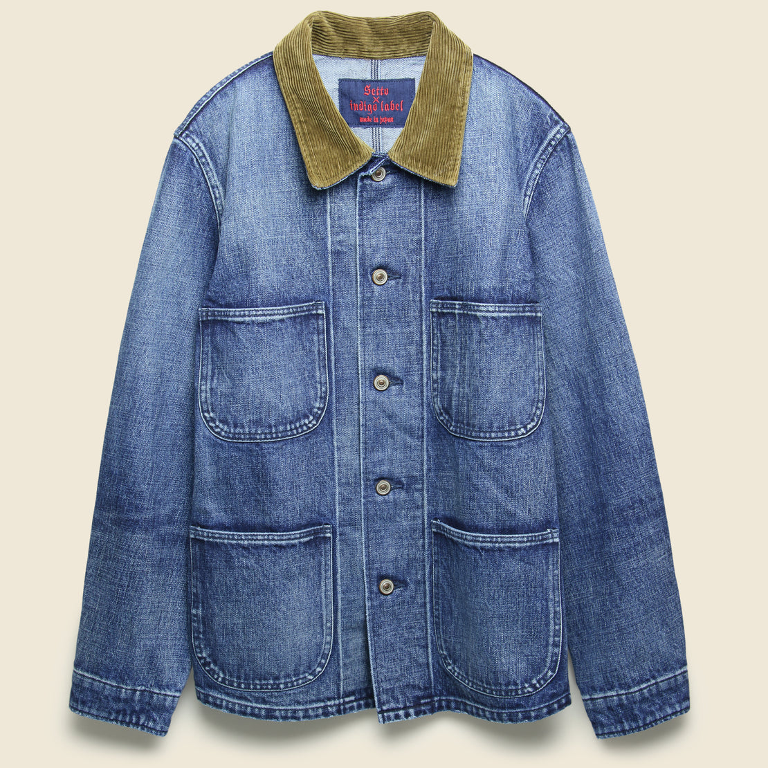 Setto Denim Coverall Jacket - Light Indigo