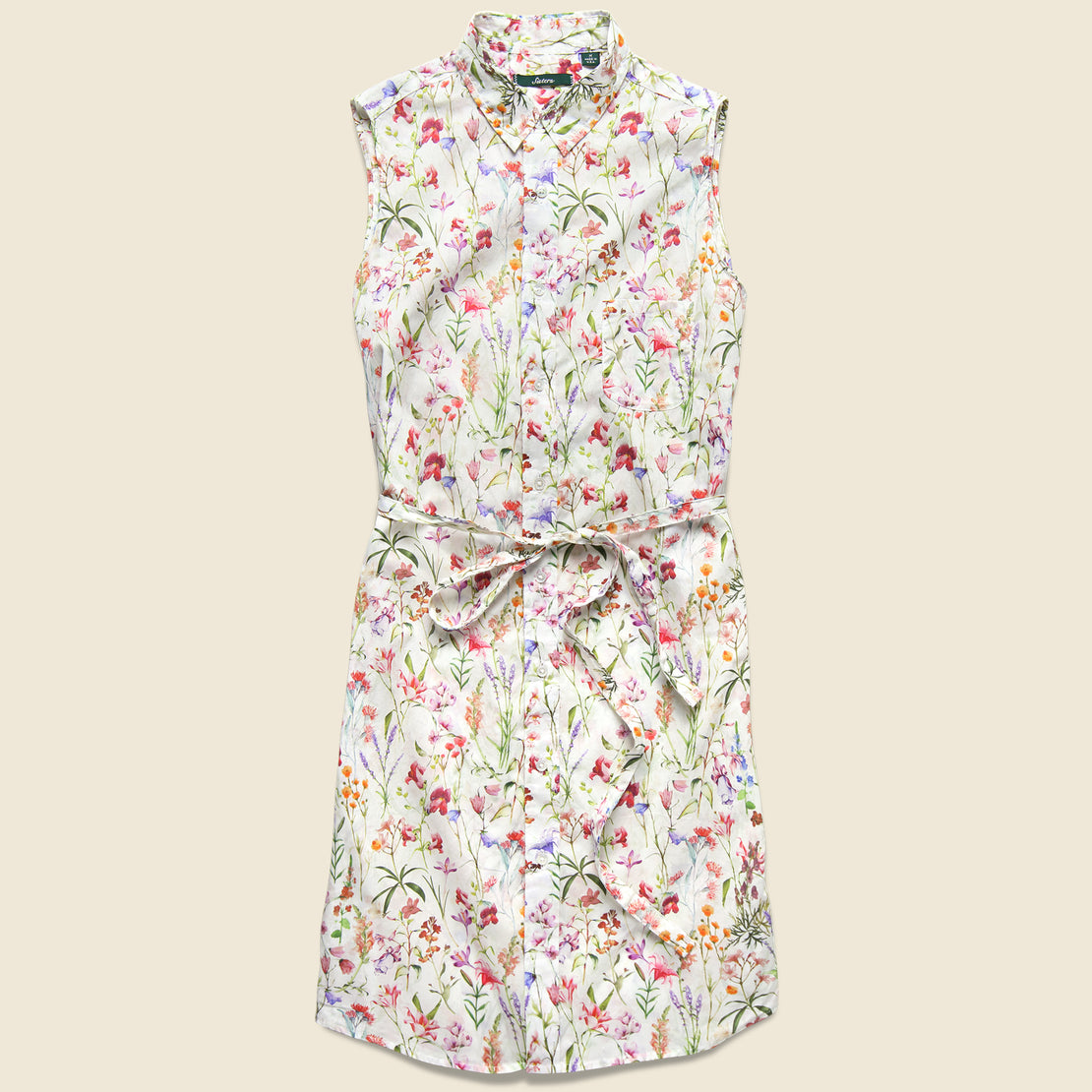 Gitman Vintage Sleeveless Shirt Dress - Spring Floral