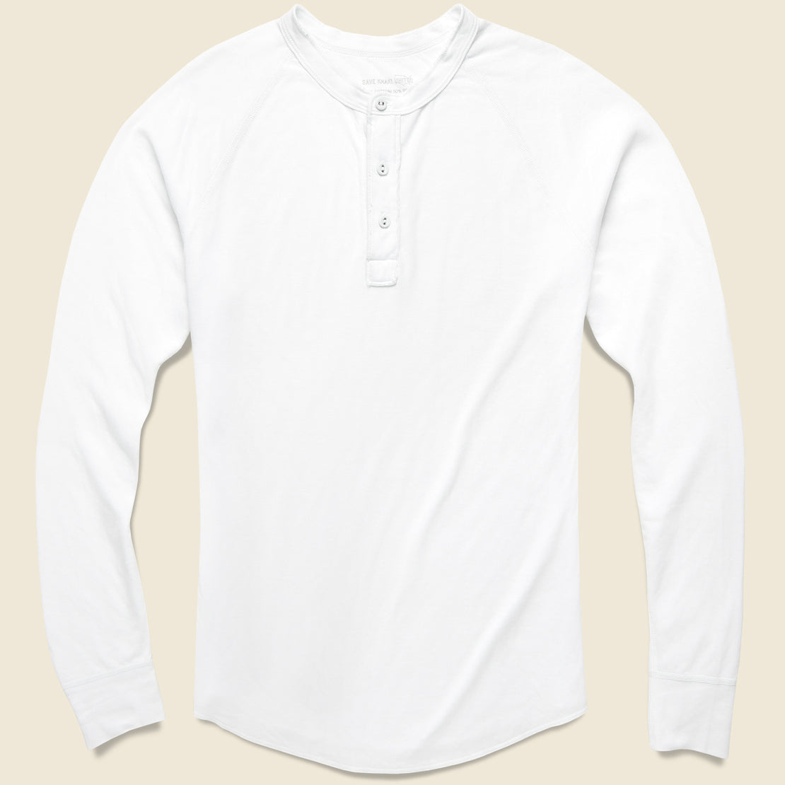 Save Khaki Pointelle Henley - White