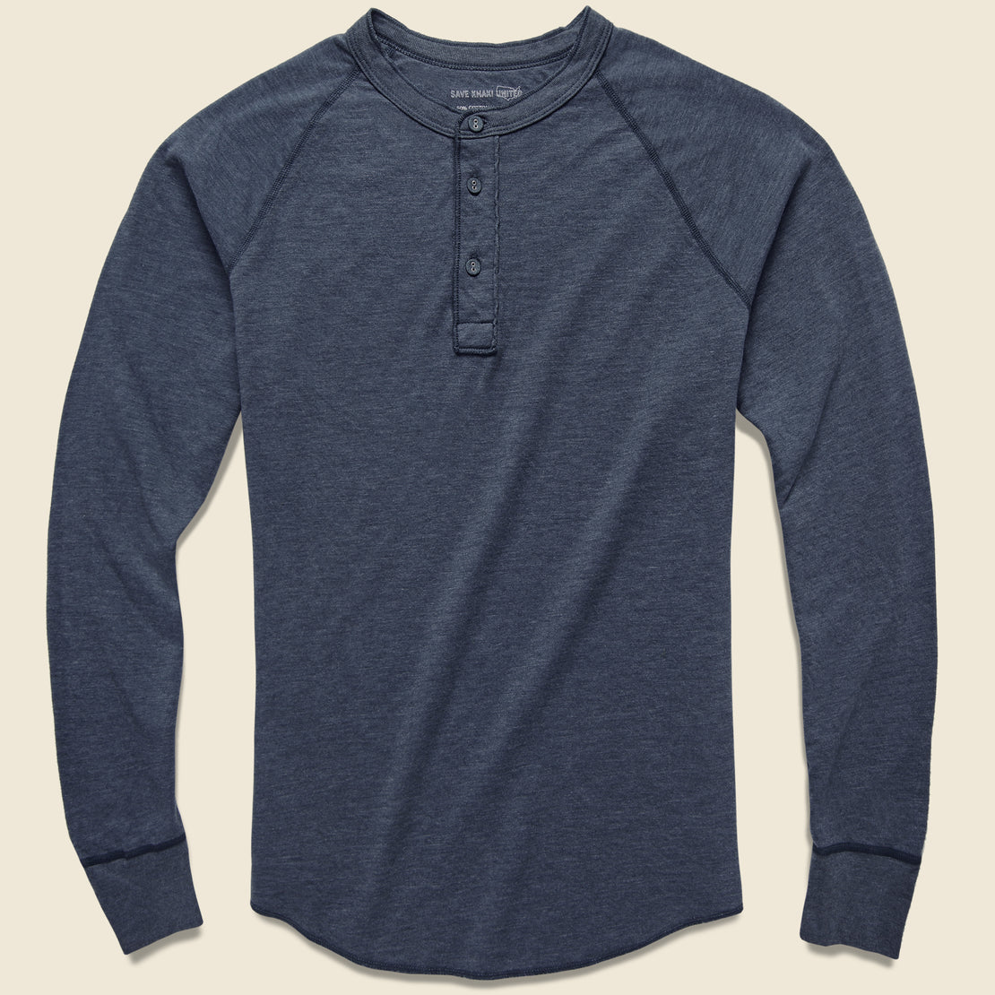 Save Khaki Pointelle Henley - Navy