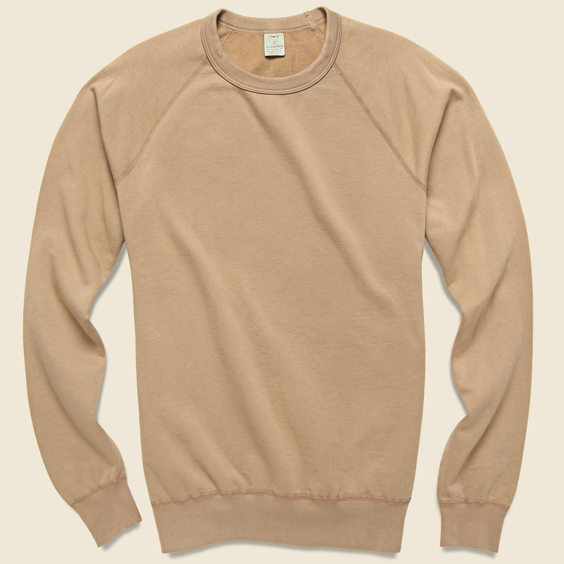 Save Khaki Supima Fleece Sweatshirt - Squash