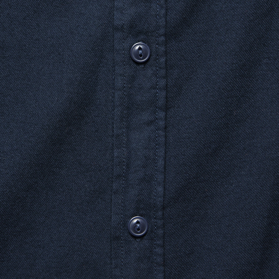 Oatmeal Flannel Workshirt - Navy