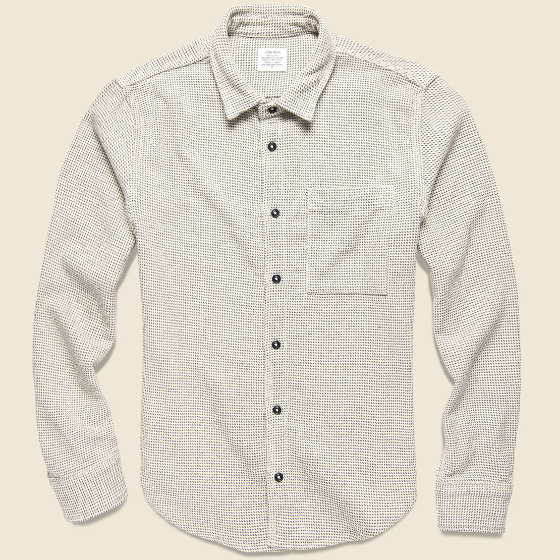 Save Khaki Blanket Twill Overshirt - Chambray Stripe