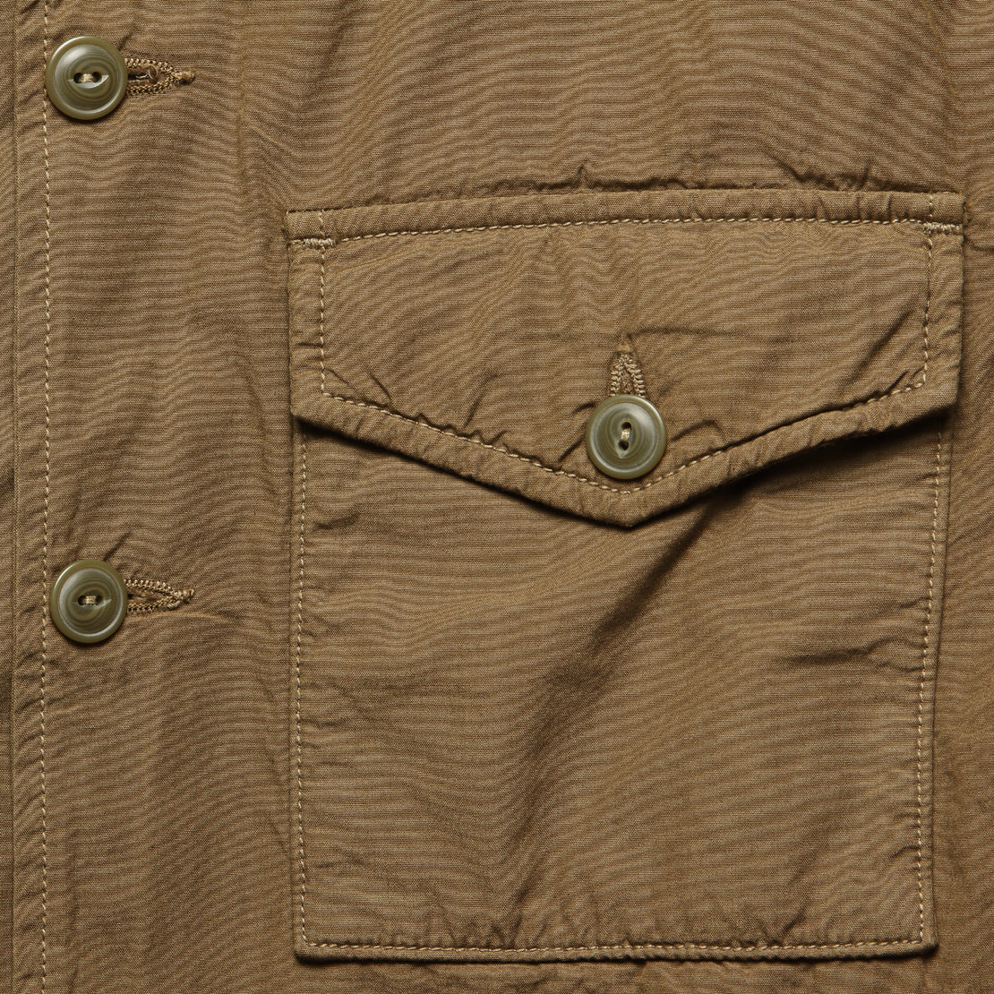 Fleece Lined Shirt Jacket - Barley