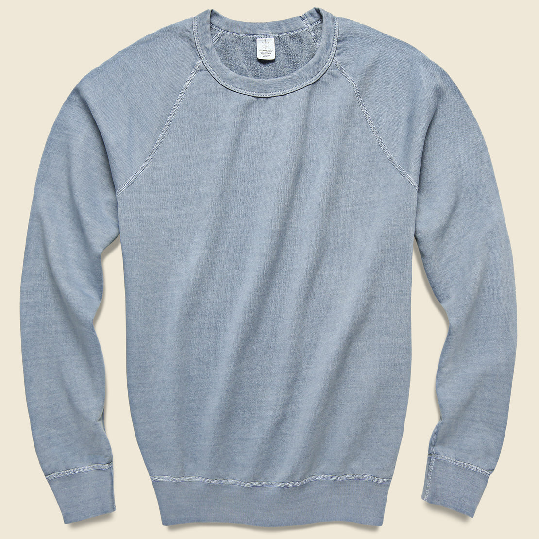 Save Khaki Pigment Dye Supima Fleece Sweatshirt - Storm