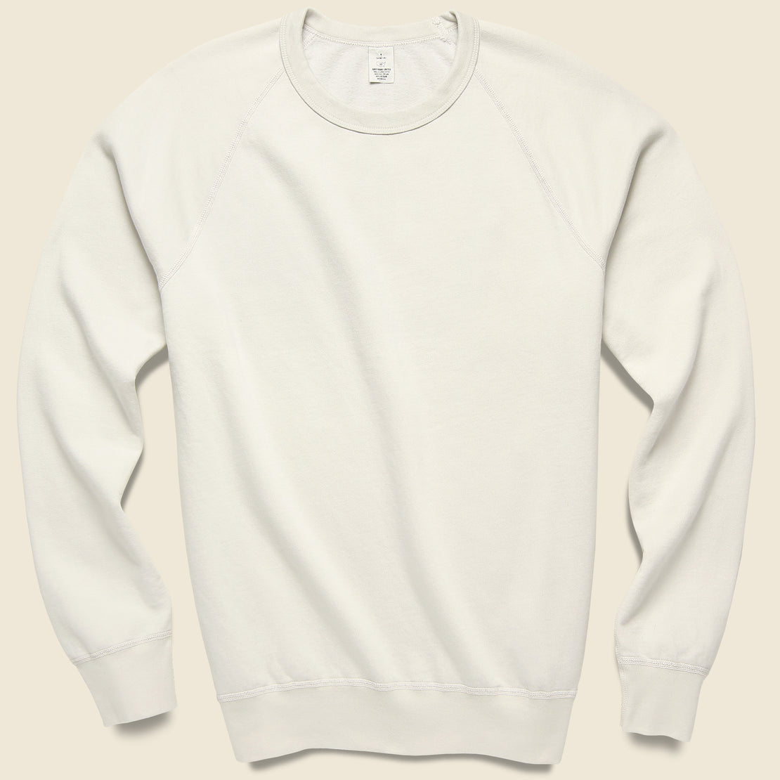Save Khaki Supima Fleece Sweatshirt - Ash