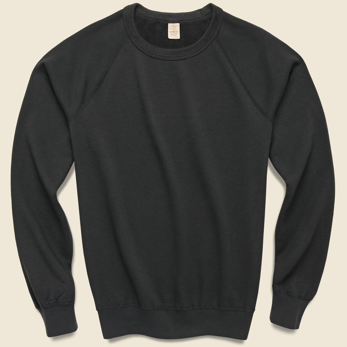 Save Khaki Supima Fleece Sweatshirt - Black