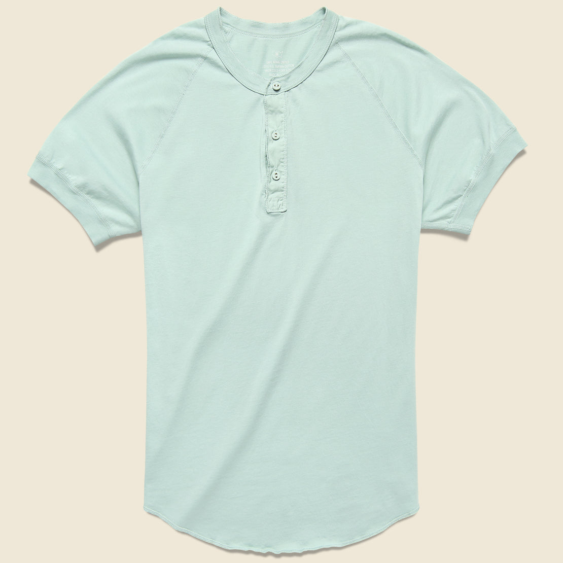 Save Khaki Supima Jersey Henley - Water