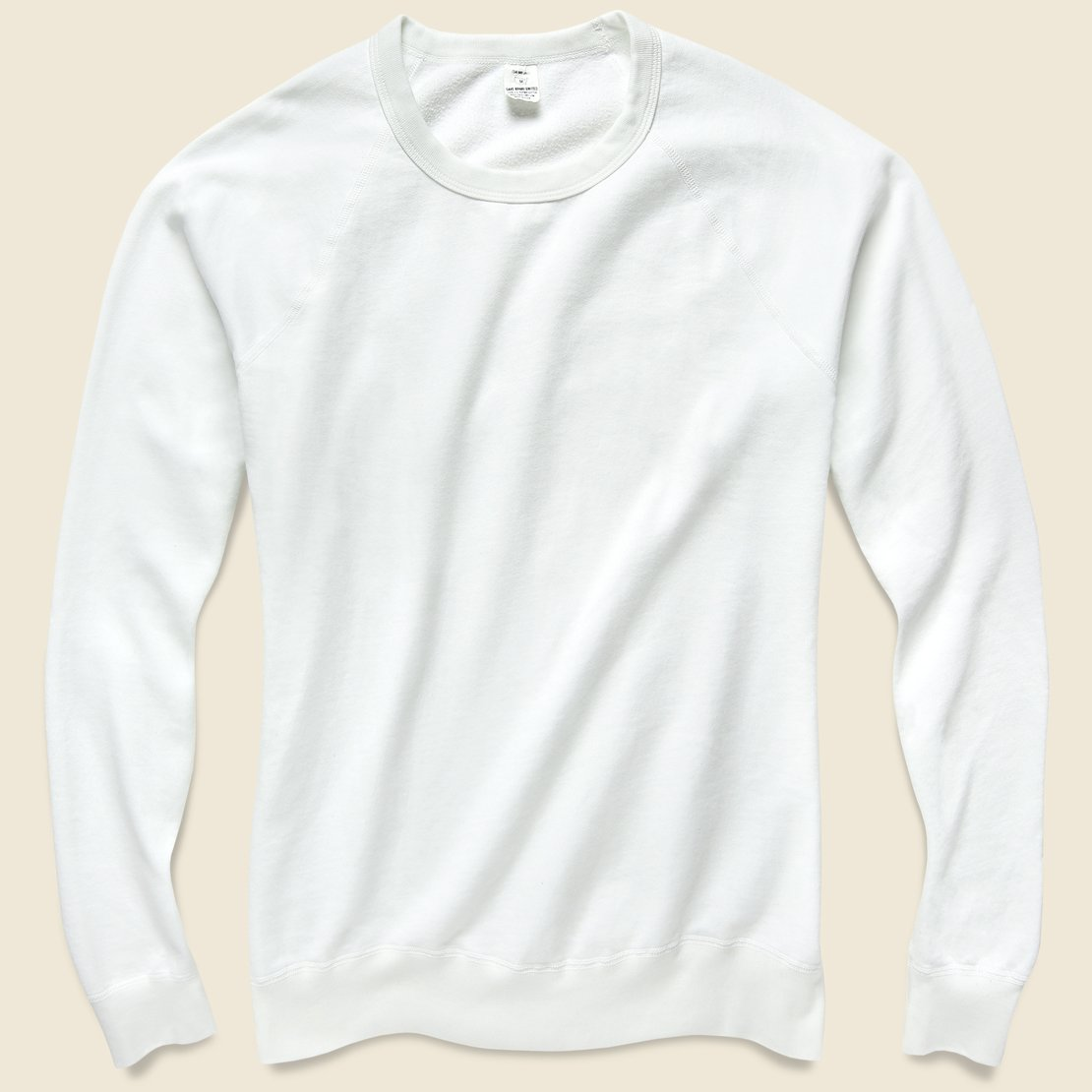 Save Khaki Supima Beach Crew Sweatshirt - White