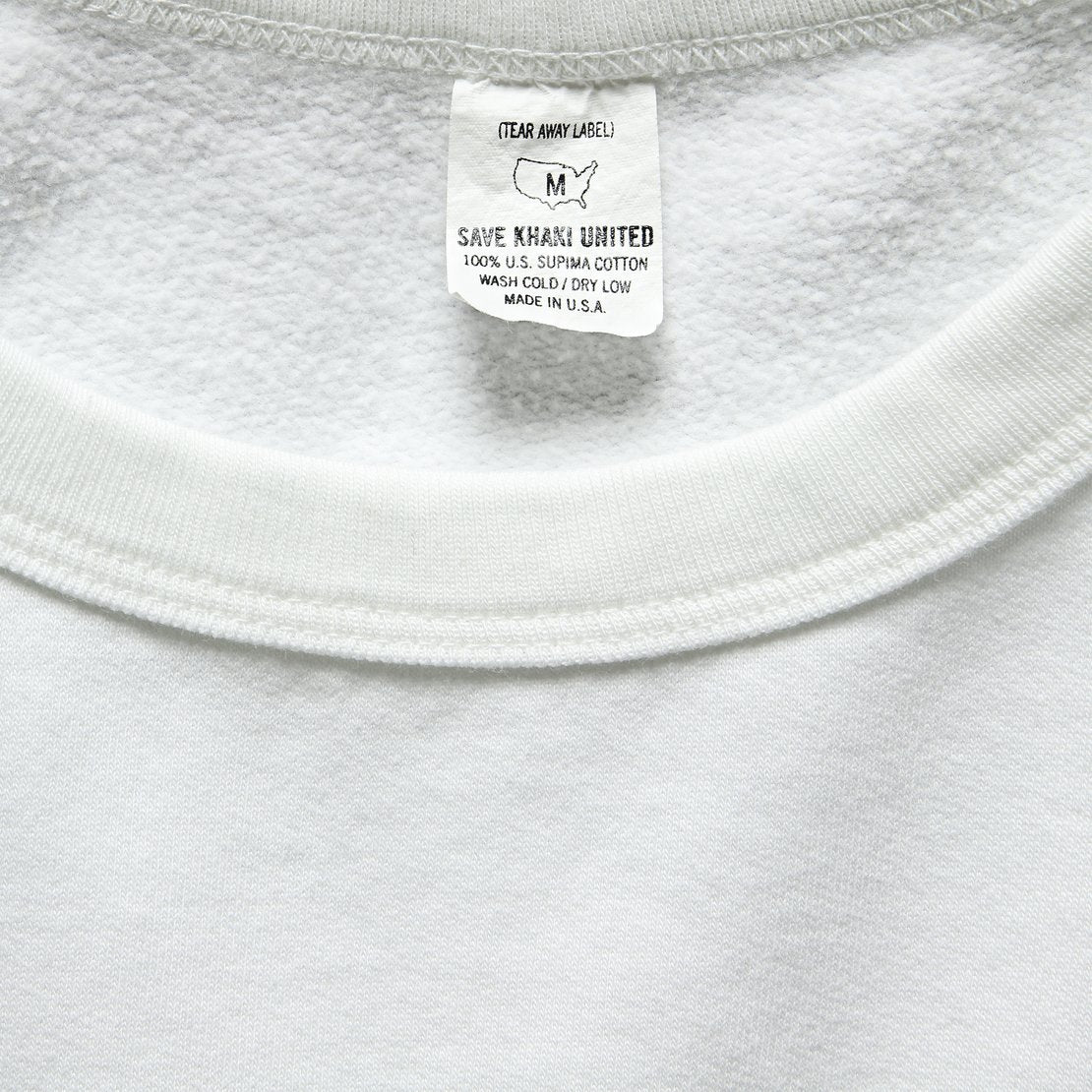 Supima Beach Crew Sweatshirt - White
