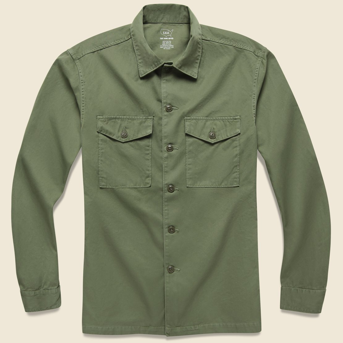 Twill Fatigue Overshirt - Tiger