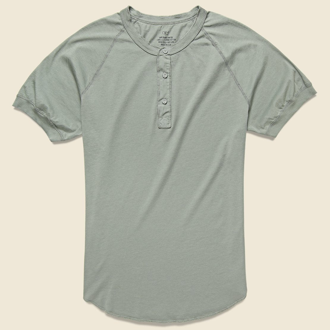 Save Khaki Supima Henley - Sprout