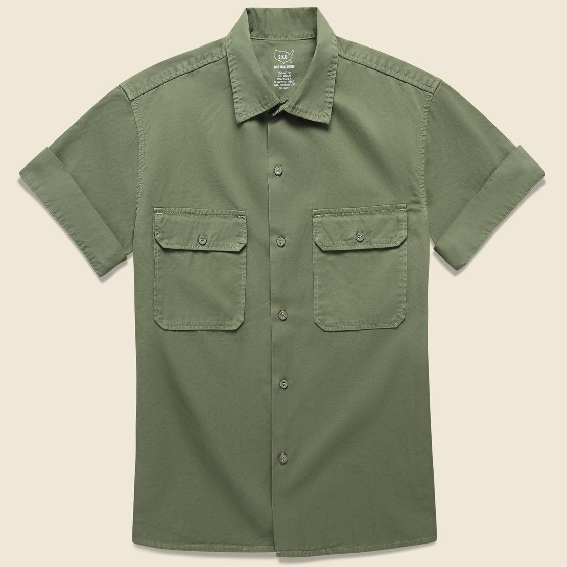 Save Khaki Light Twill Camp Shirt - Olive Drab
