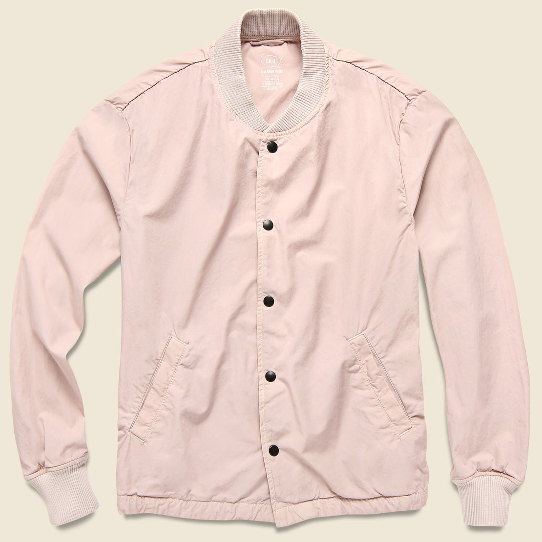 Save Khaki Poplin Warm Up Bomber - Tea
