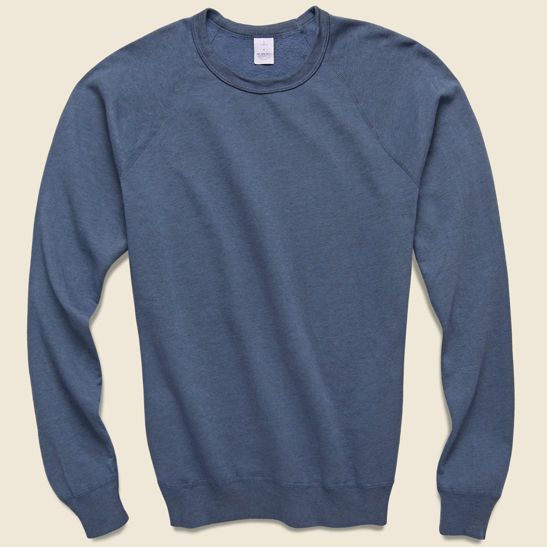 Save Khaki Heather Fleece Sweatshirt - Good Blue