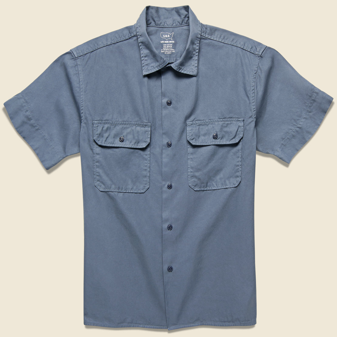 Save Khaki Light Twill Camp Shirt - Blue