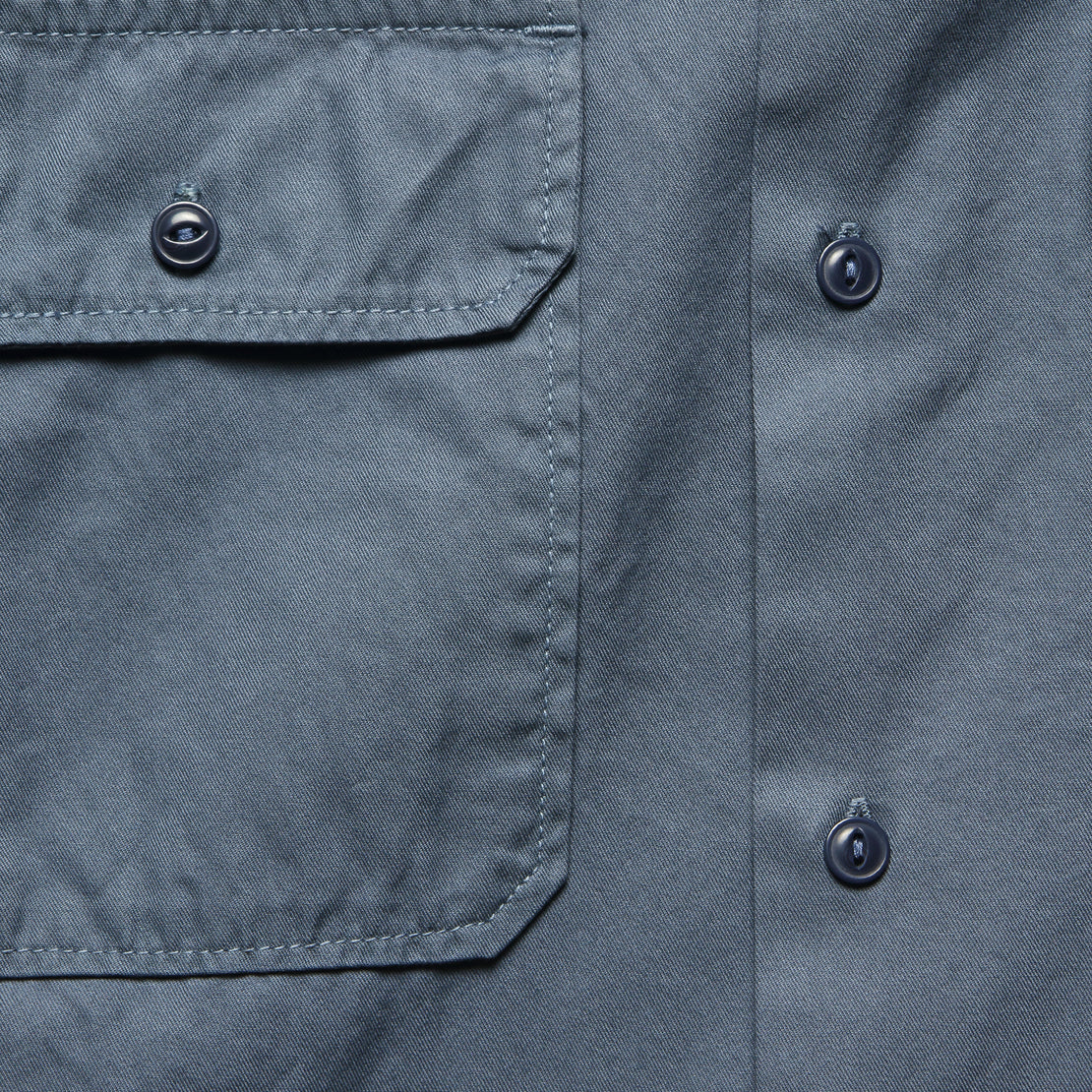 Light Twill Camp Shirt - Blue