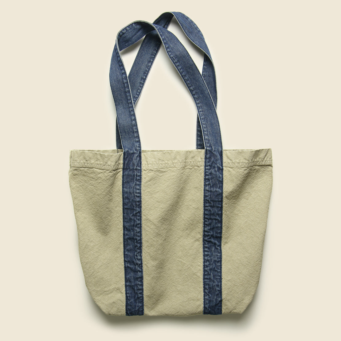 Canvas/Denim Tote Bag - Khaki