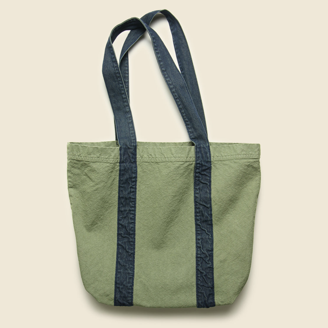Canvas/Denim Tote Bag - Olive