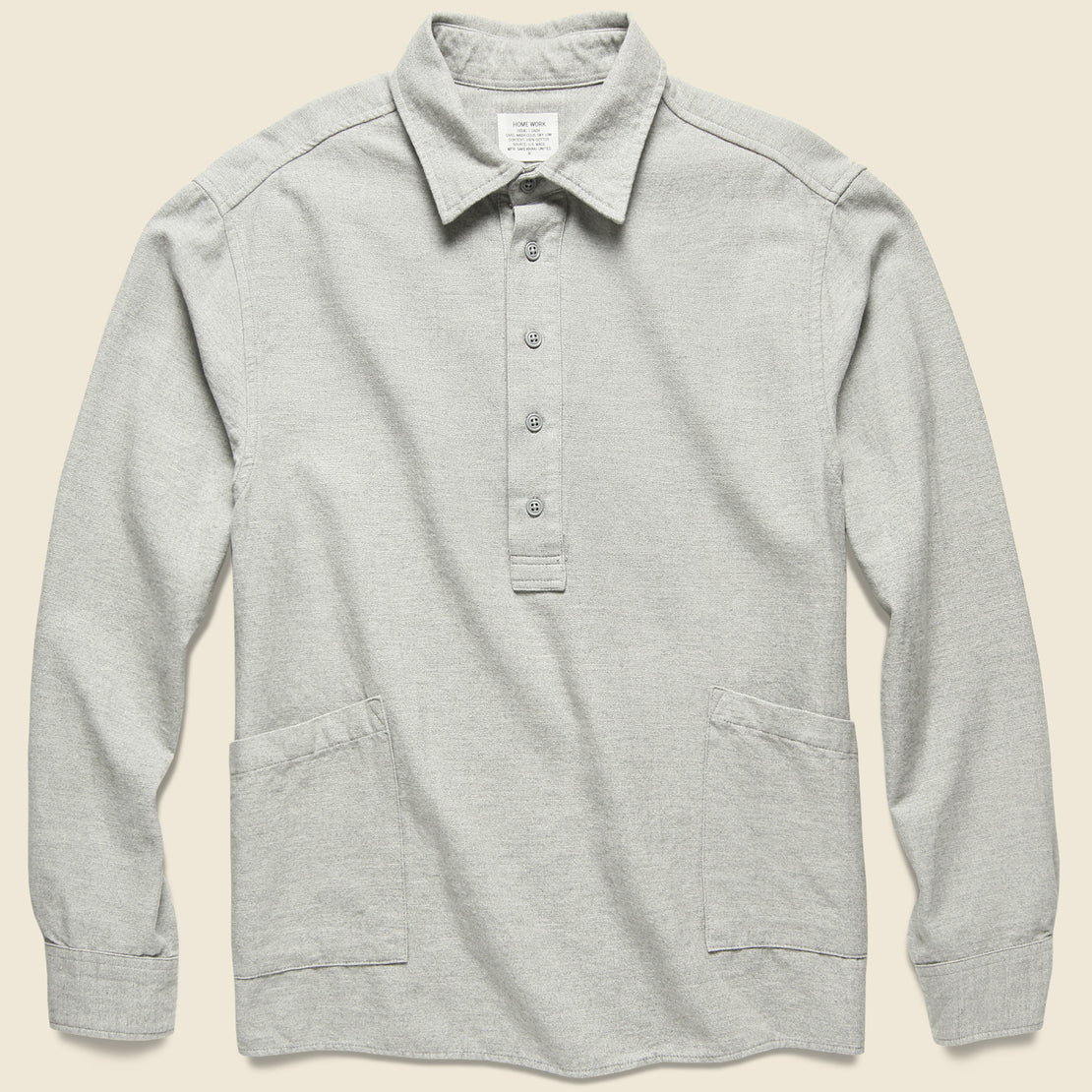 Save Khaki Herringbone Popover - Grey