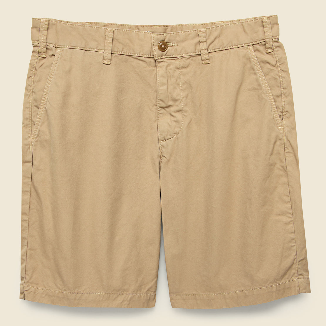 Save Khaki Twill Bermuda Short - Copper