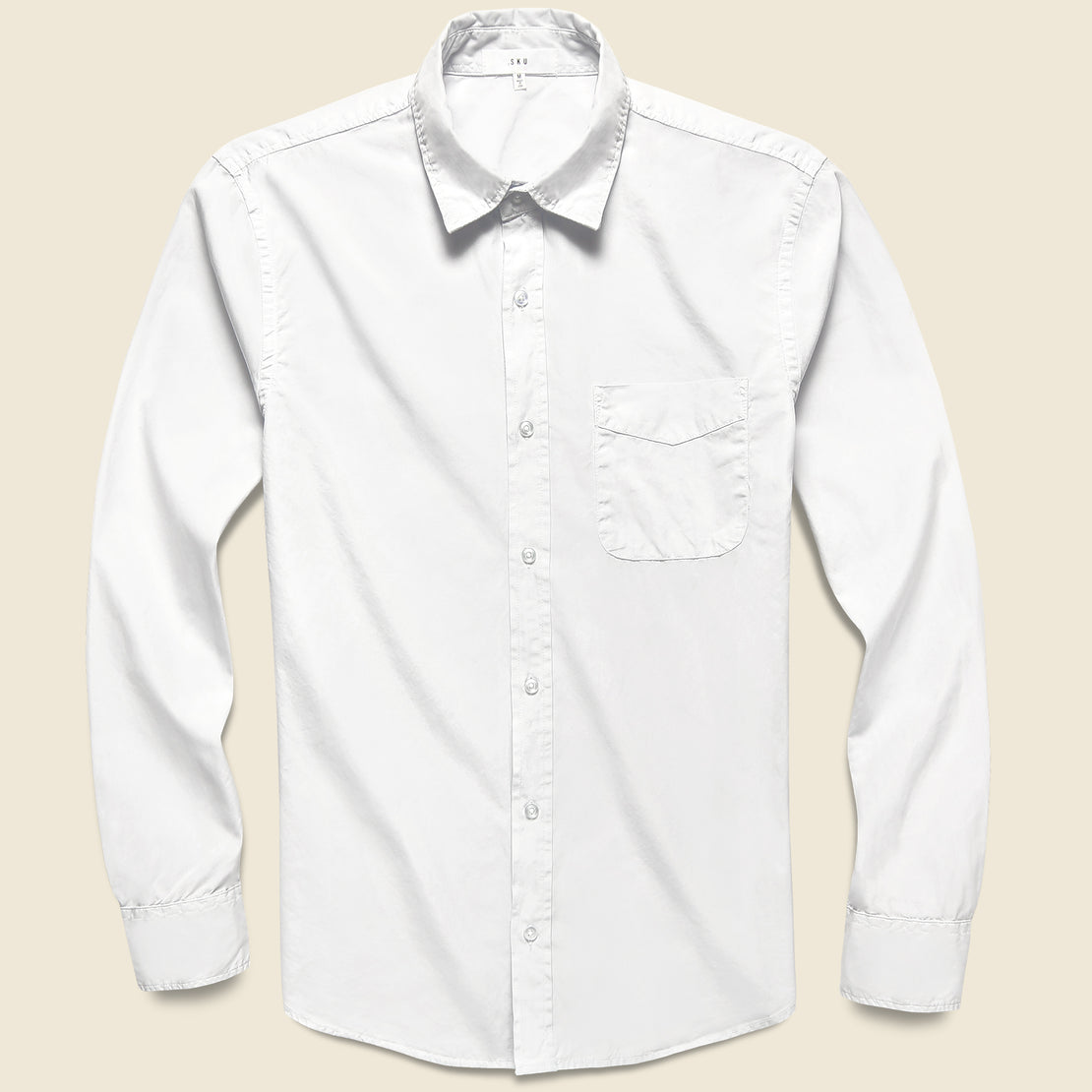 Save Khaki Poplin Standard Shirt - White