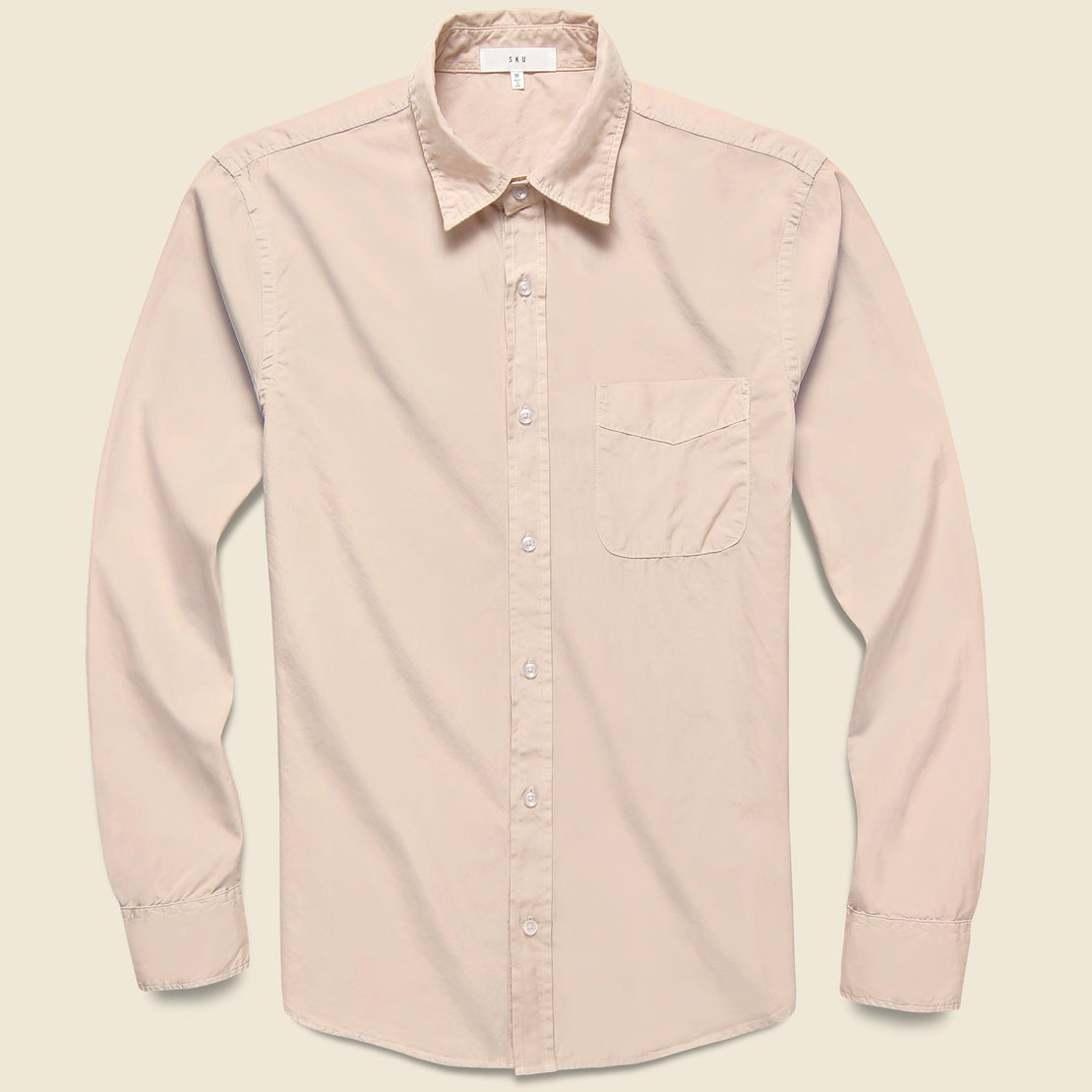 Save Khaki Poplin Standard Shirt - Tea