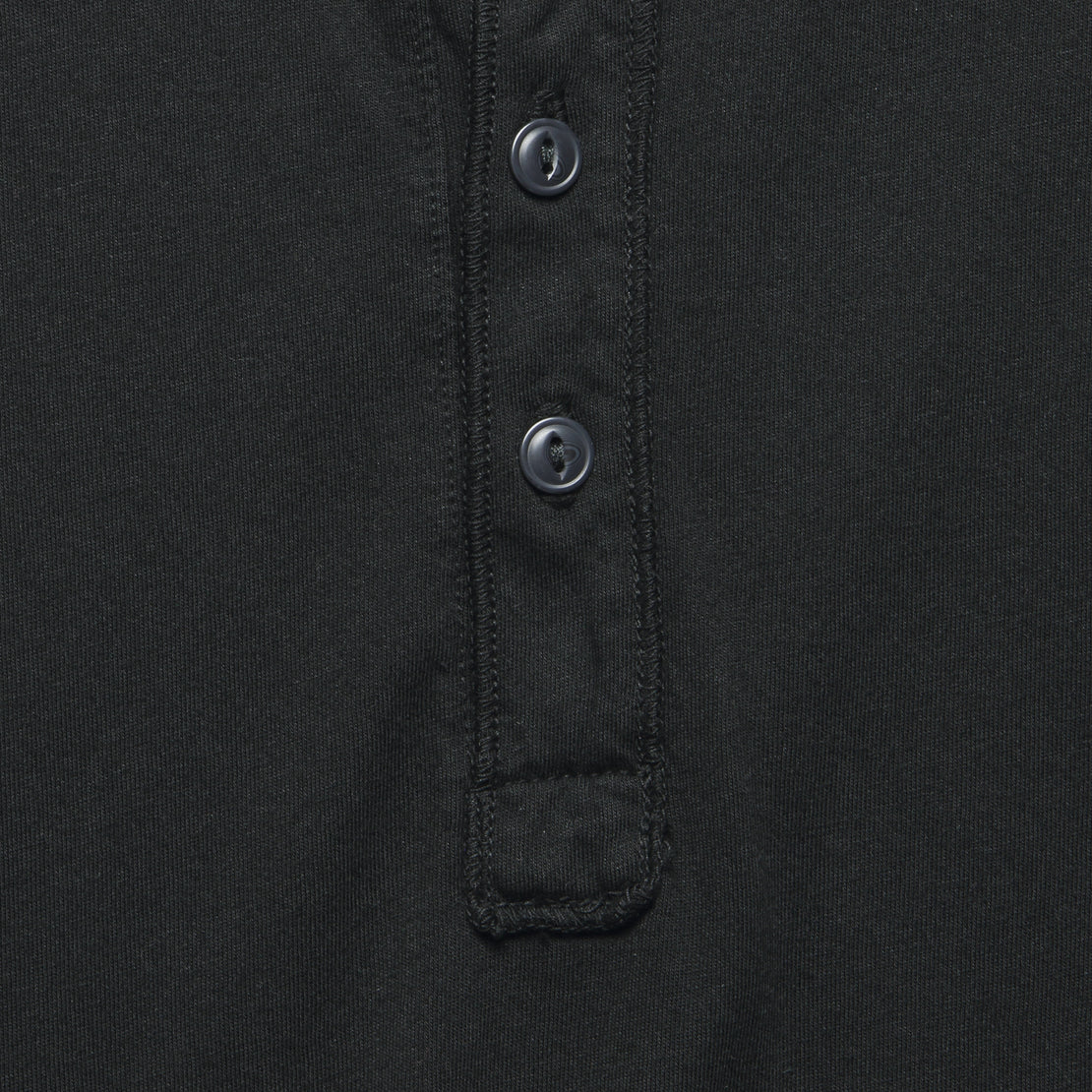 New Supima Henley - Black