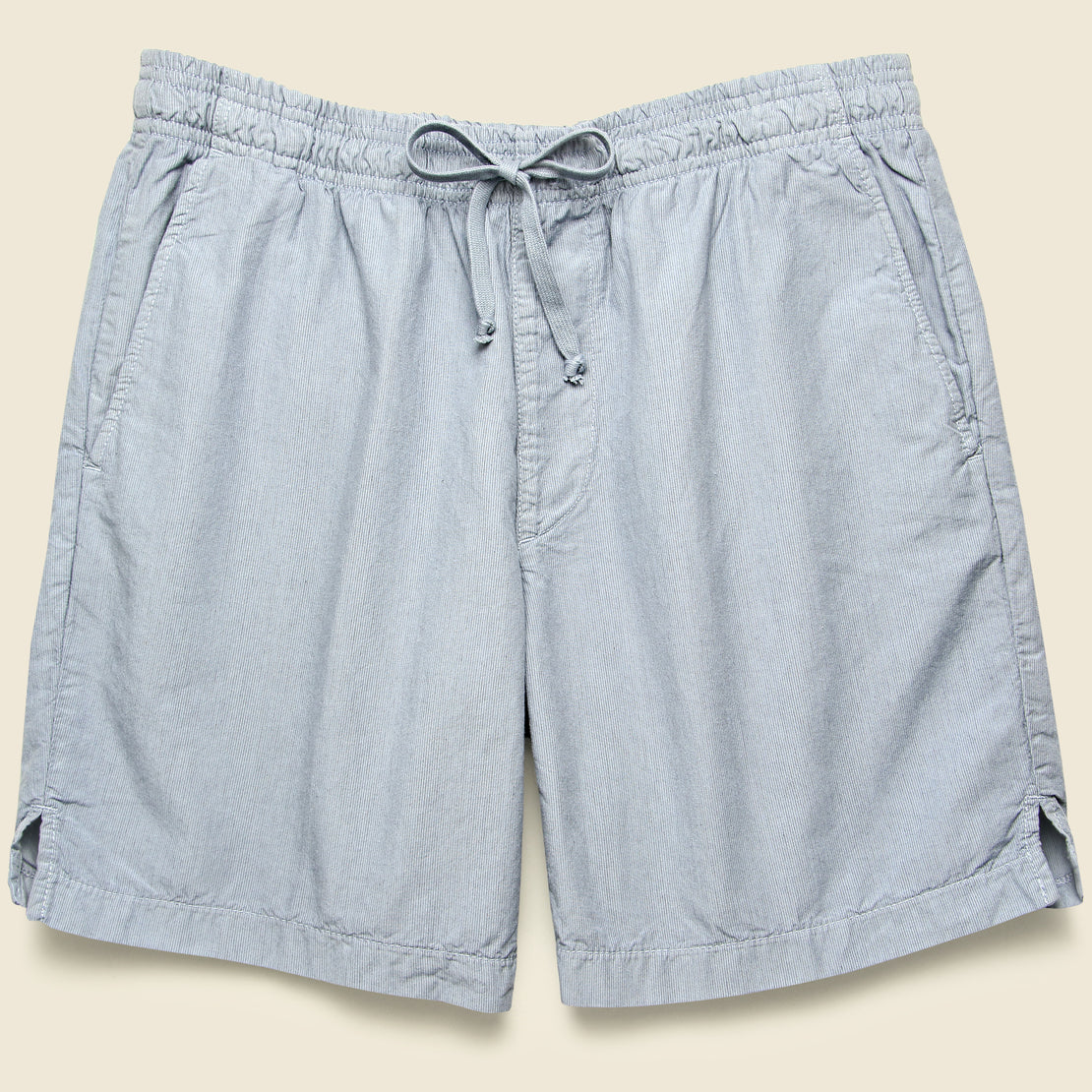 Save Khaki Stripe Easy Short - Sky