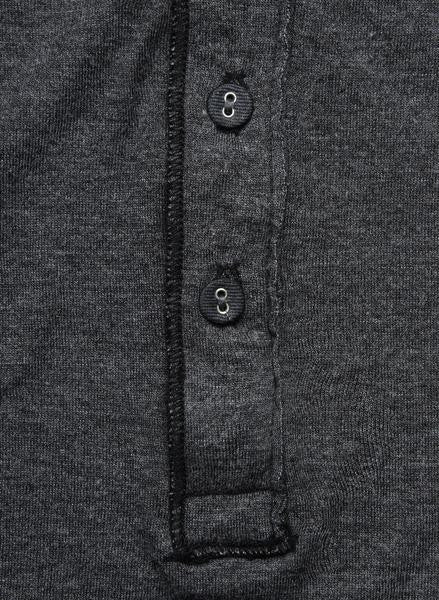 Pointelle Henley - Black