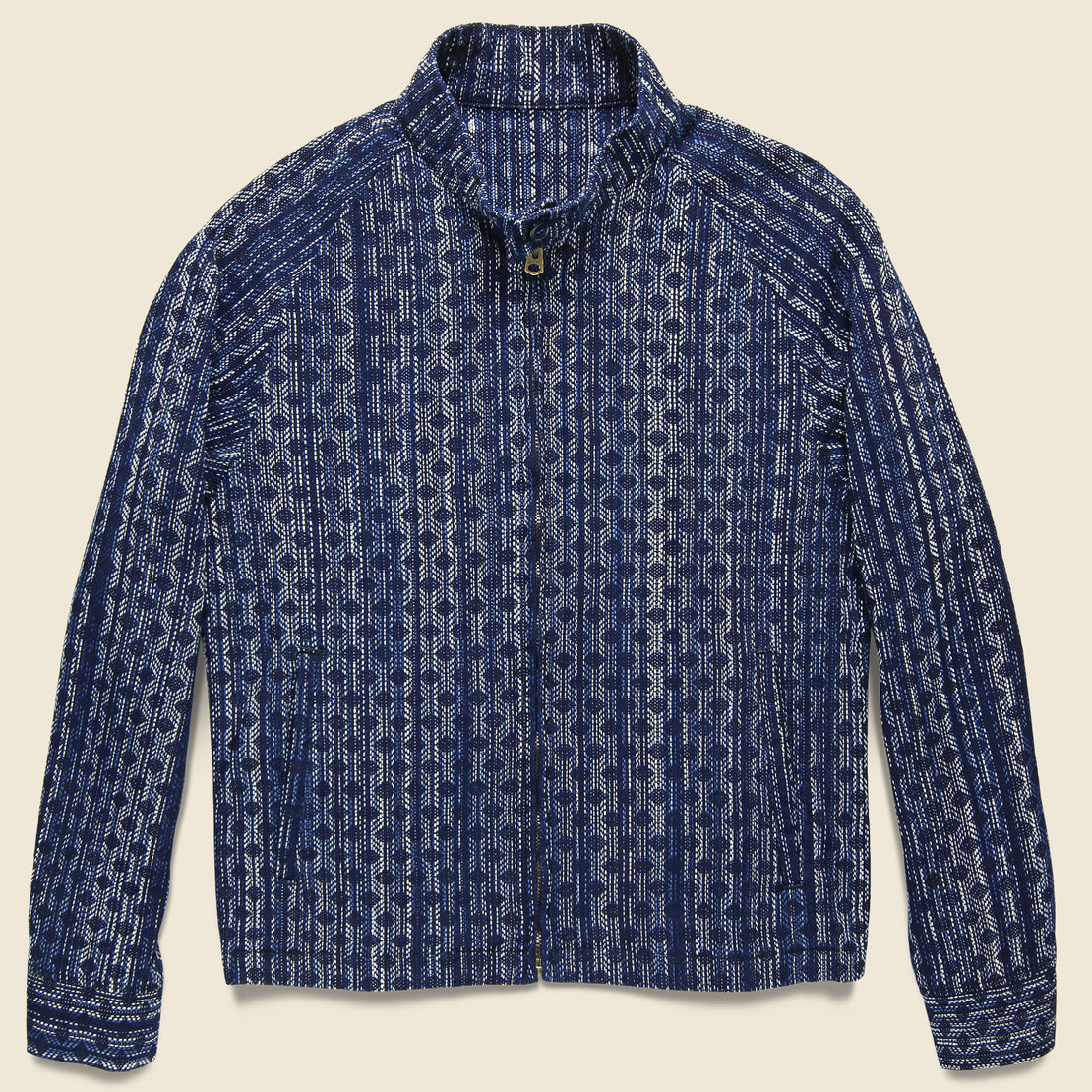 Setto Aizome Splashed Jacket - Indigo