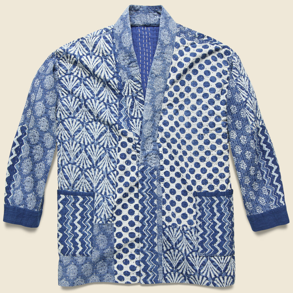 Setto India Quilted Jacket - Indigo