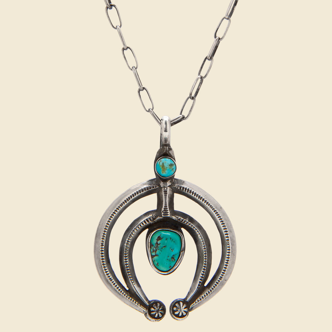 Smith Bros. Trading Co. Naja Pendant Necklace - Sterling Silver/Turquoise
