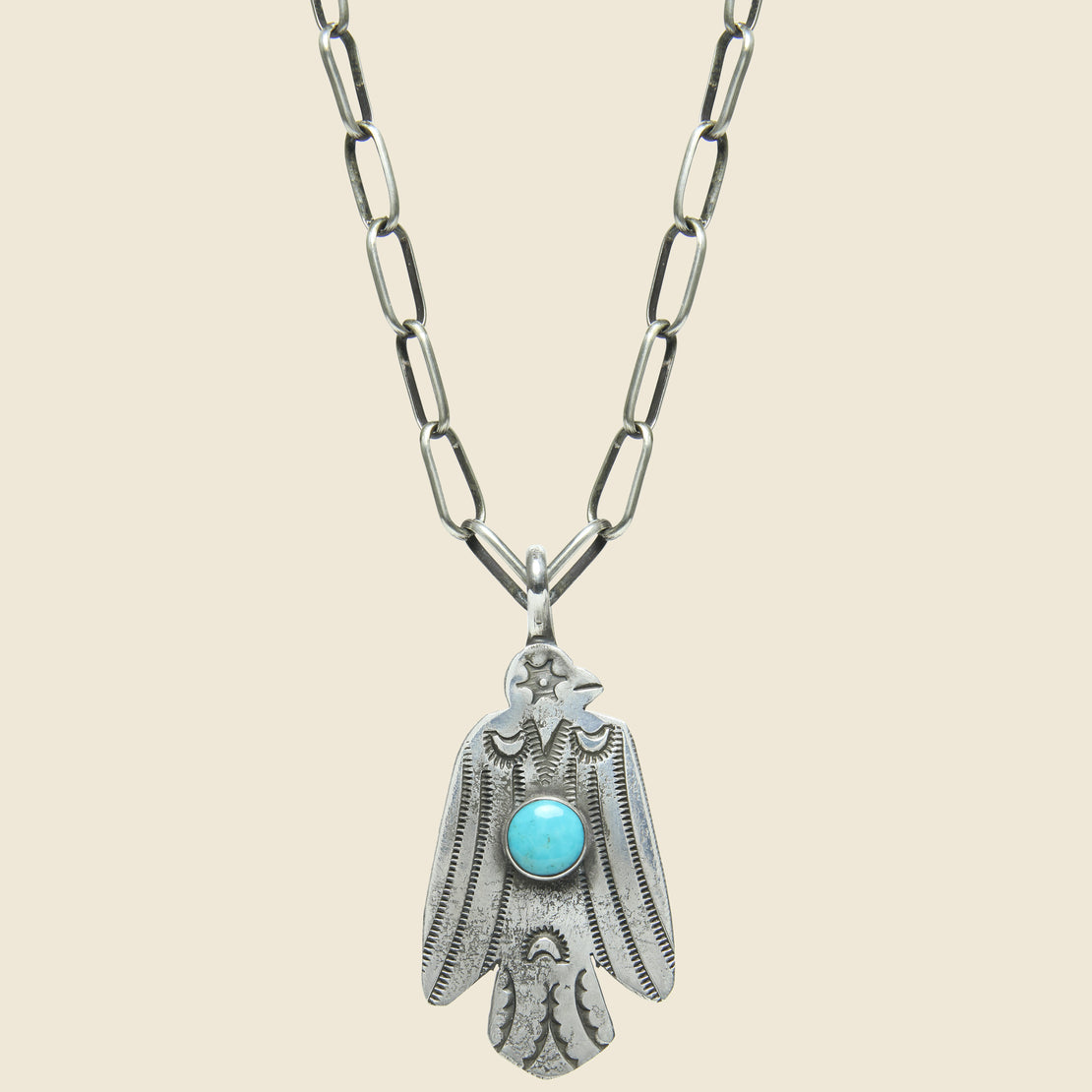 Smith Bros. Trading Co. Star Eye Thunderbird Pendant Necklace - Sterling/Turquoise