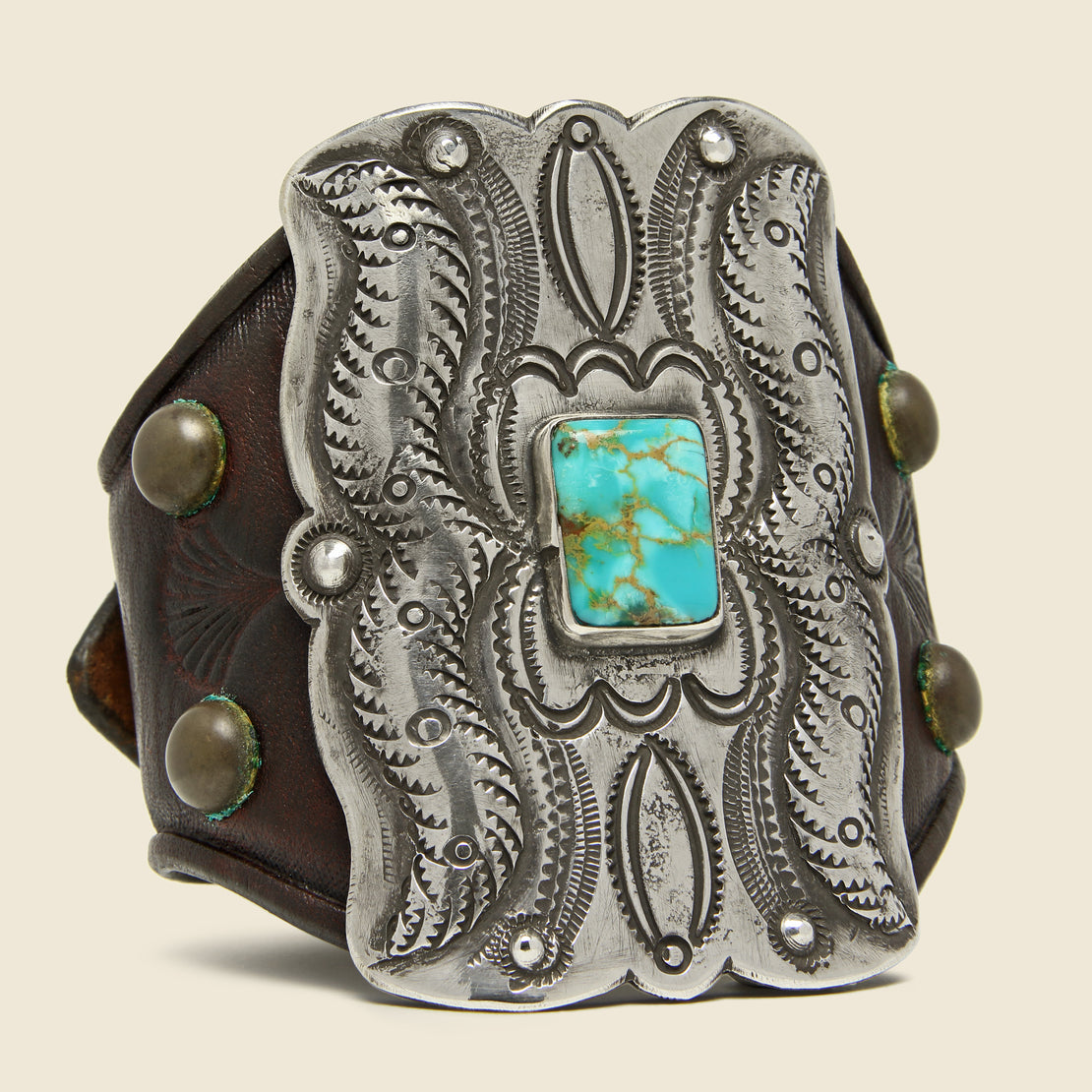 Smith Bros. Trading Co. Petal Motif Ketoh - Sterling/Turquoise