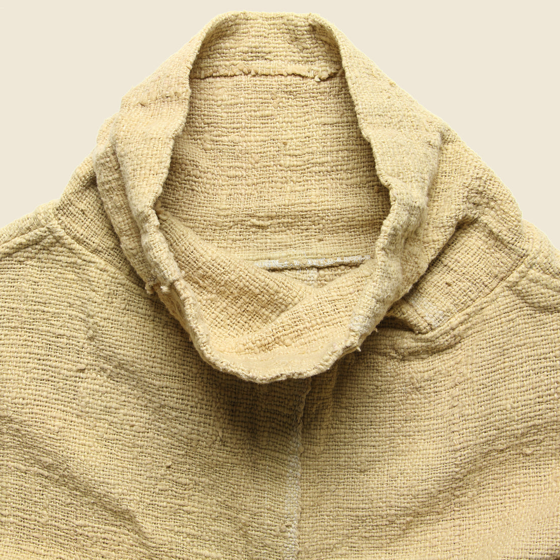 Cotton Overdye Poncho - Grain