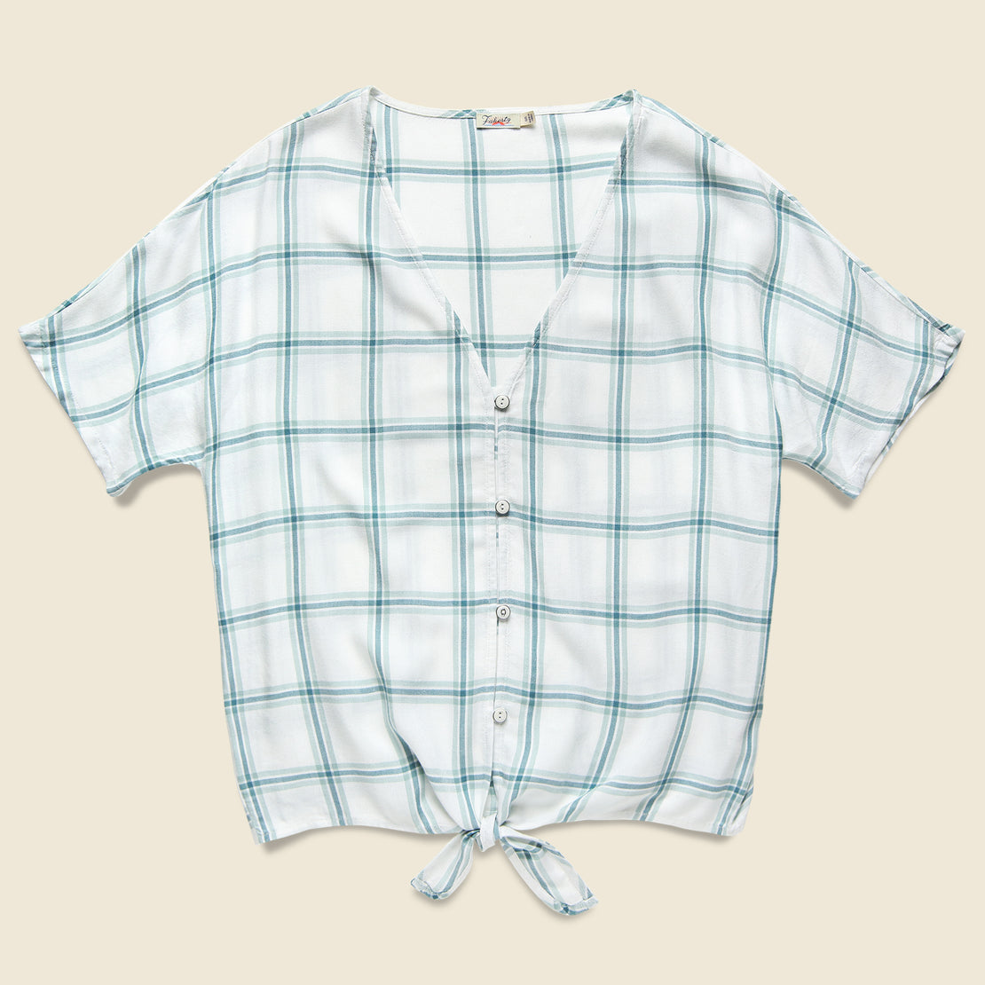 Faherty Alice Top - Coastal Windowpane