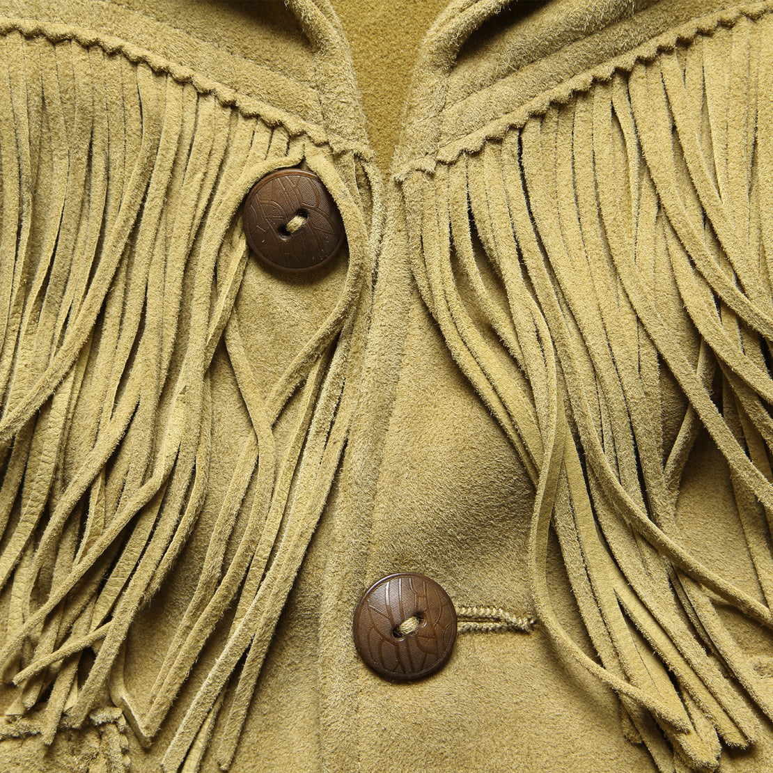 Lexington Fringe Jacket - Tan Suede
