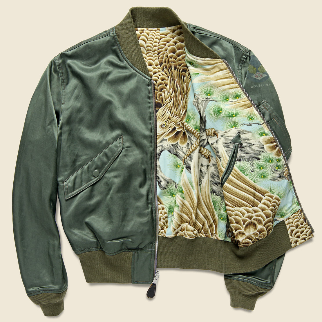 RRL Webster Bomber - Sage