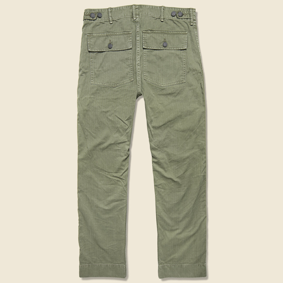Army Cotton Herringbone Utility Pant - Brewster Green