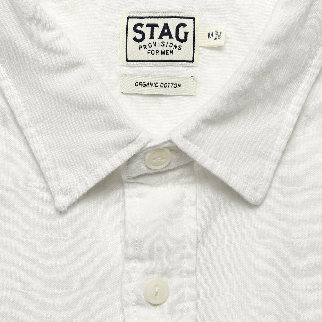 Garment-Dyed Double Cloth Shirt - White