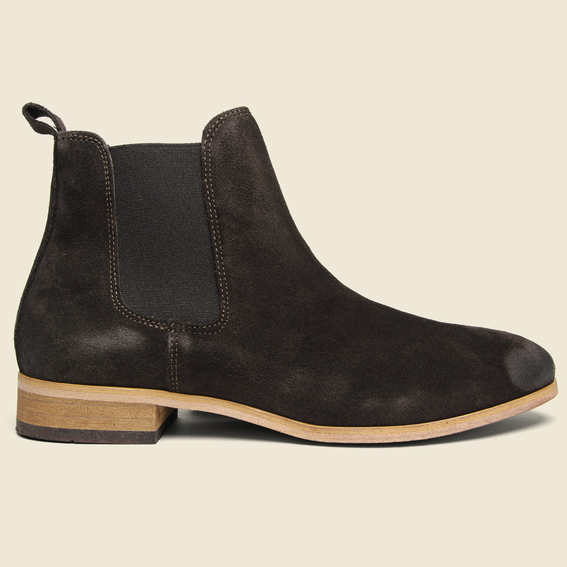 Shoe the Bear Dev Suede Chelsea Boot - Dark Brown