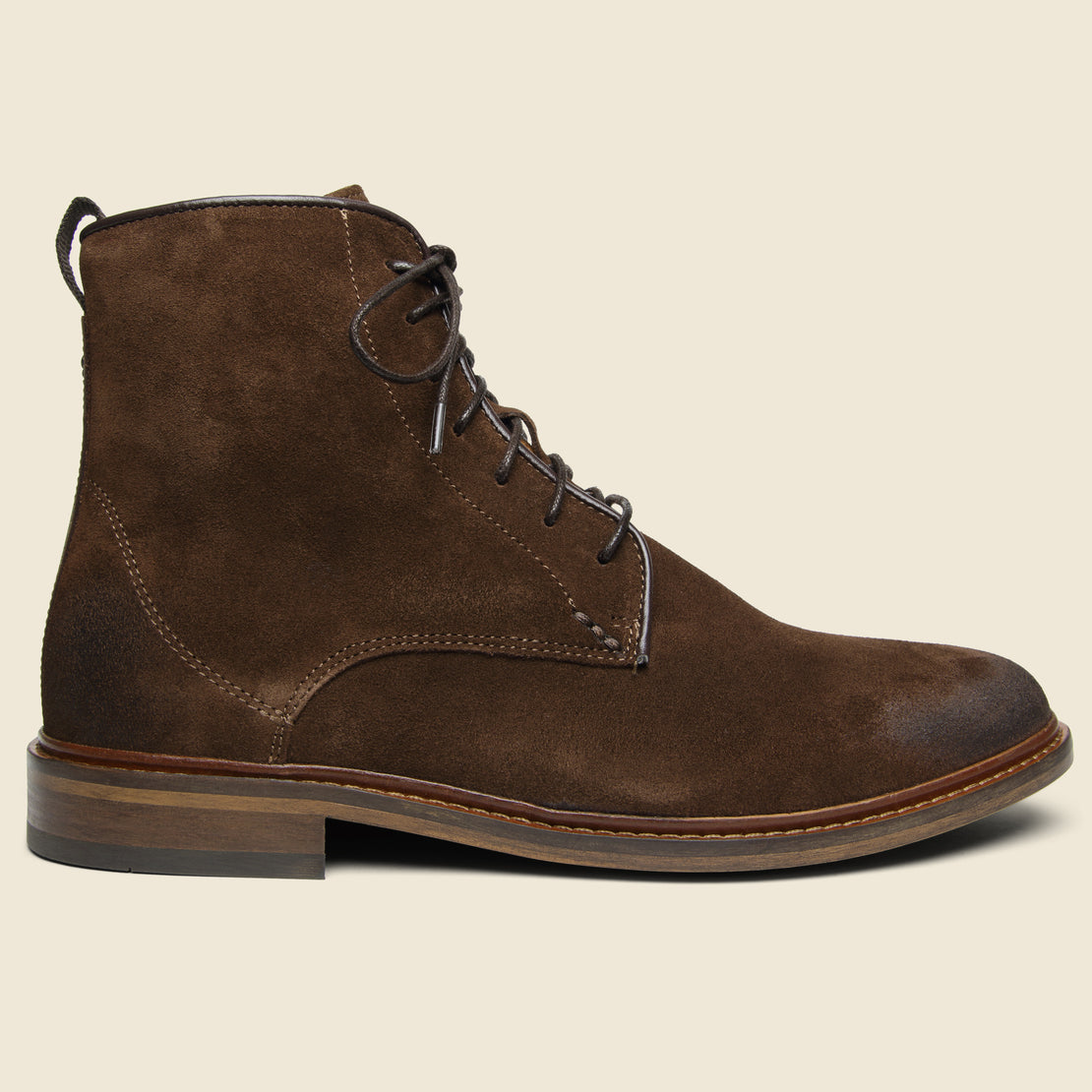 Shoe the Bear Ned Suede Lace-Up Boot - Light Brown