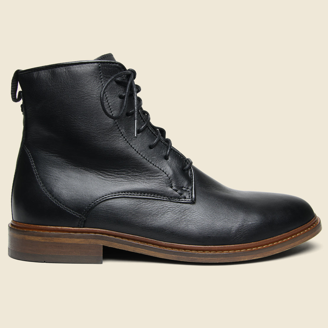 Shoe the Bear Ned Leather Lace-Up Boot - Black