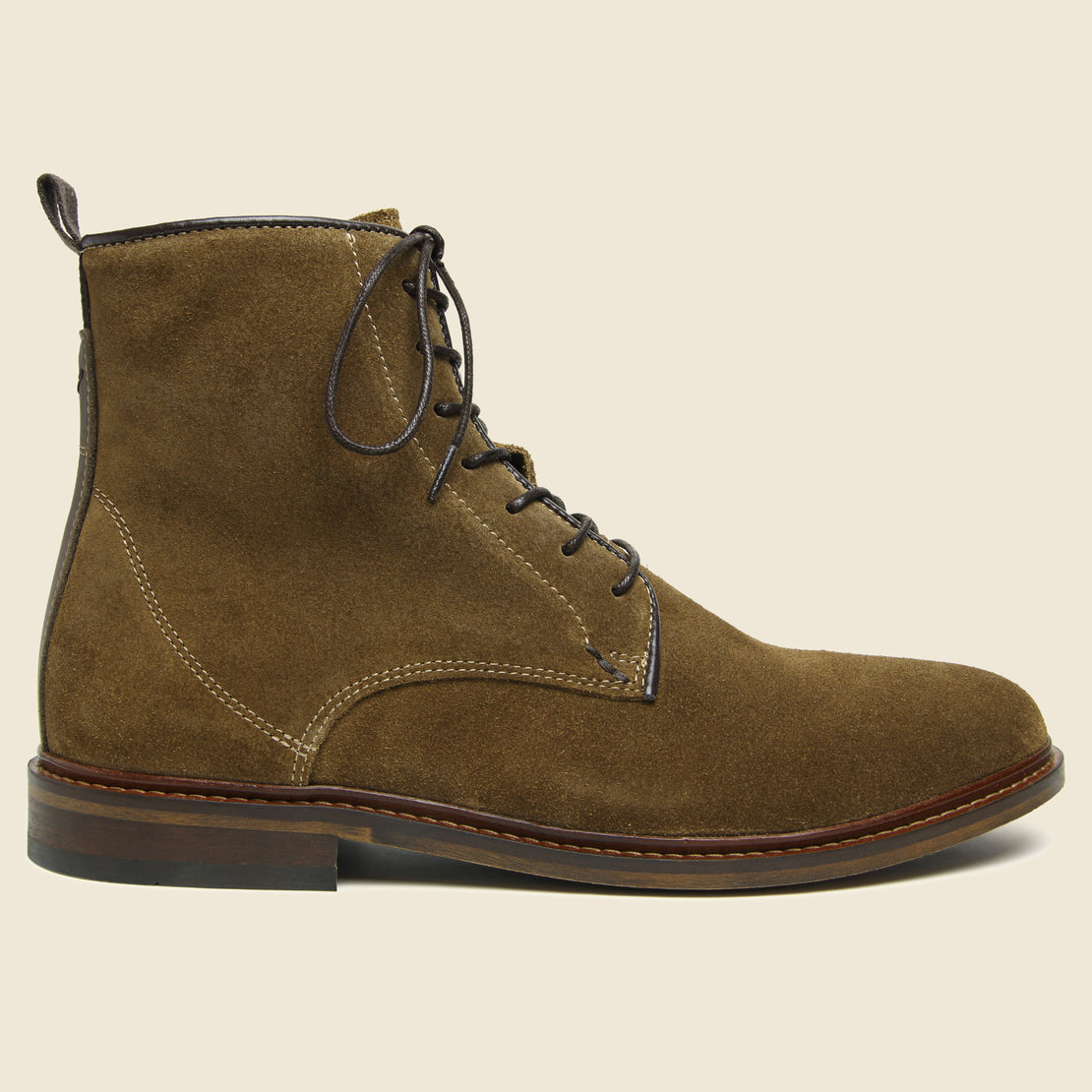 Shoe the Bear Ned Suede Lace-Up Boot - Tobacco