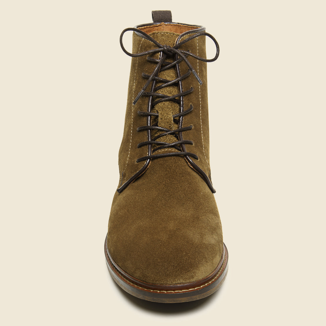 Ned Suede Lace-Up Boot - Tobacco