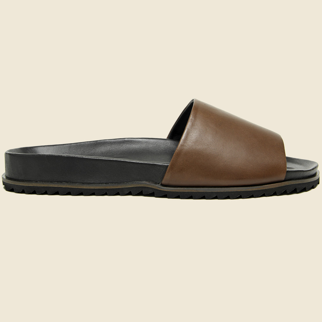 Shoe the Bear Augustin Leather Slide - Brown