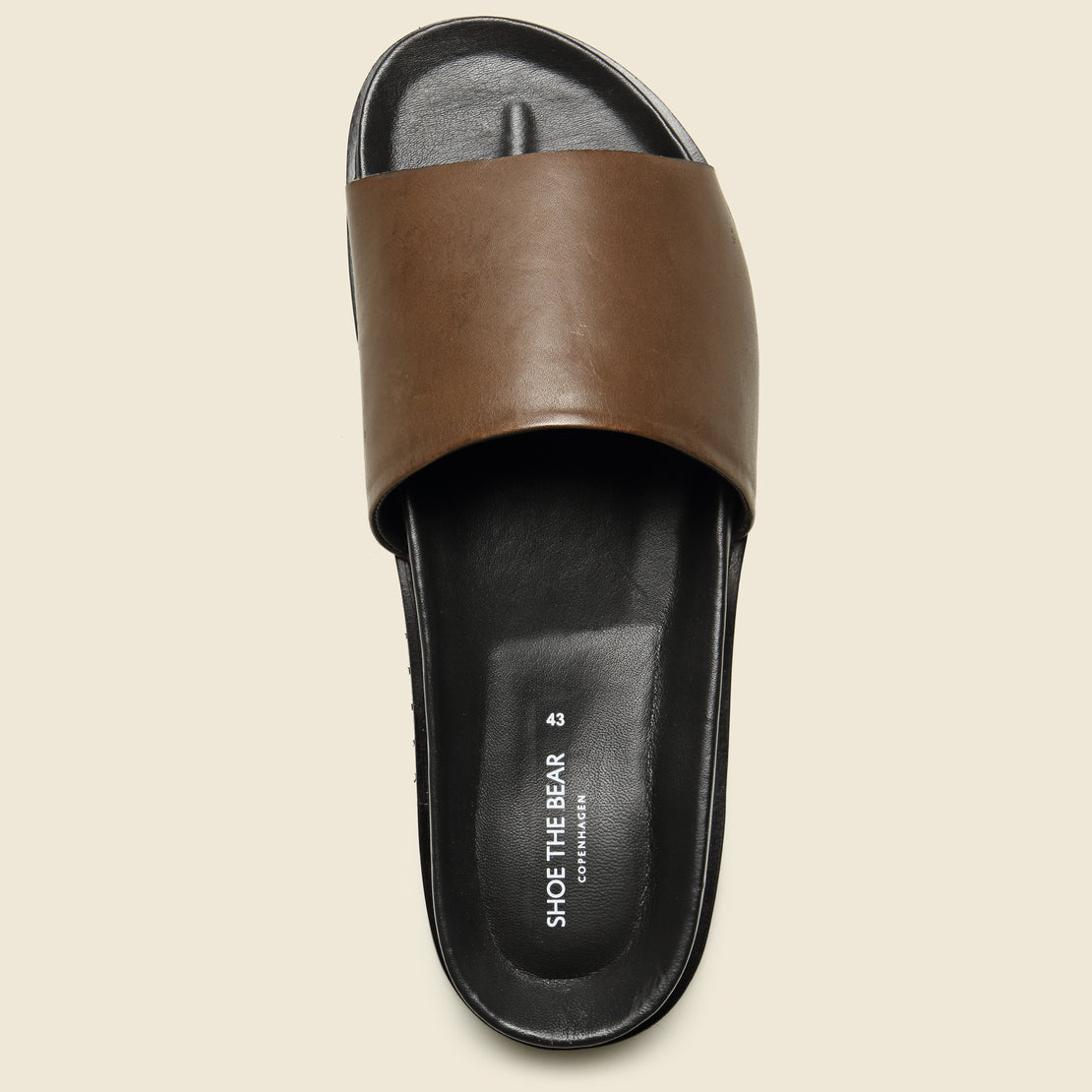 Augustin Leather Slide - Brown