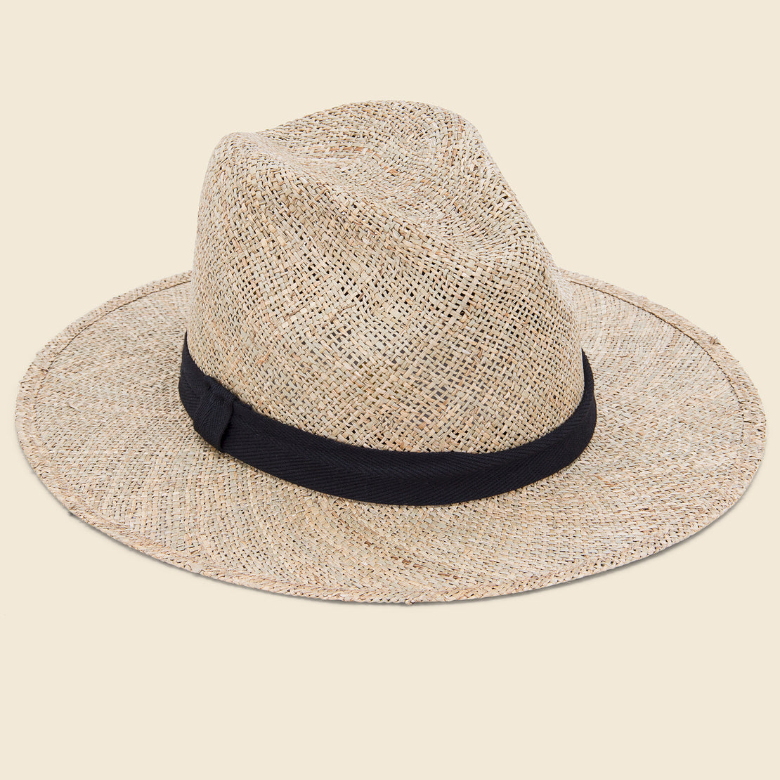 Yellow 108 Stevie Seagrass Straw Fedora - Natural/Tan