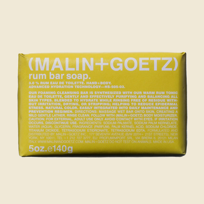 Malin + Goetz Bar Soap - Rum